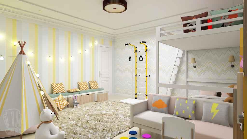 Дизайн-проект ул. Институская 2а, Неоклассика в интерьере Тюмени (6)
