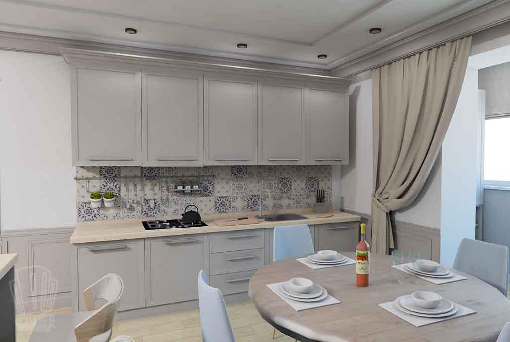 Дизайн-проект ул. Институская 2а, Неоклассика в интерьере Тюмени (9)