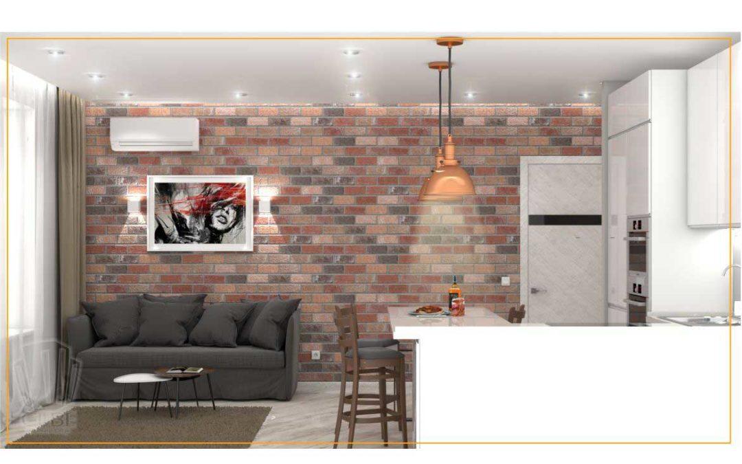 Дизайн-проект двухкомнатной квартиры В ЖК «Олимпия» г. Тюмень.