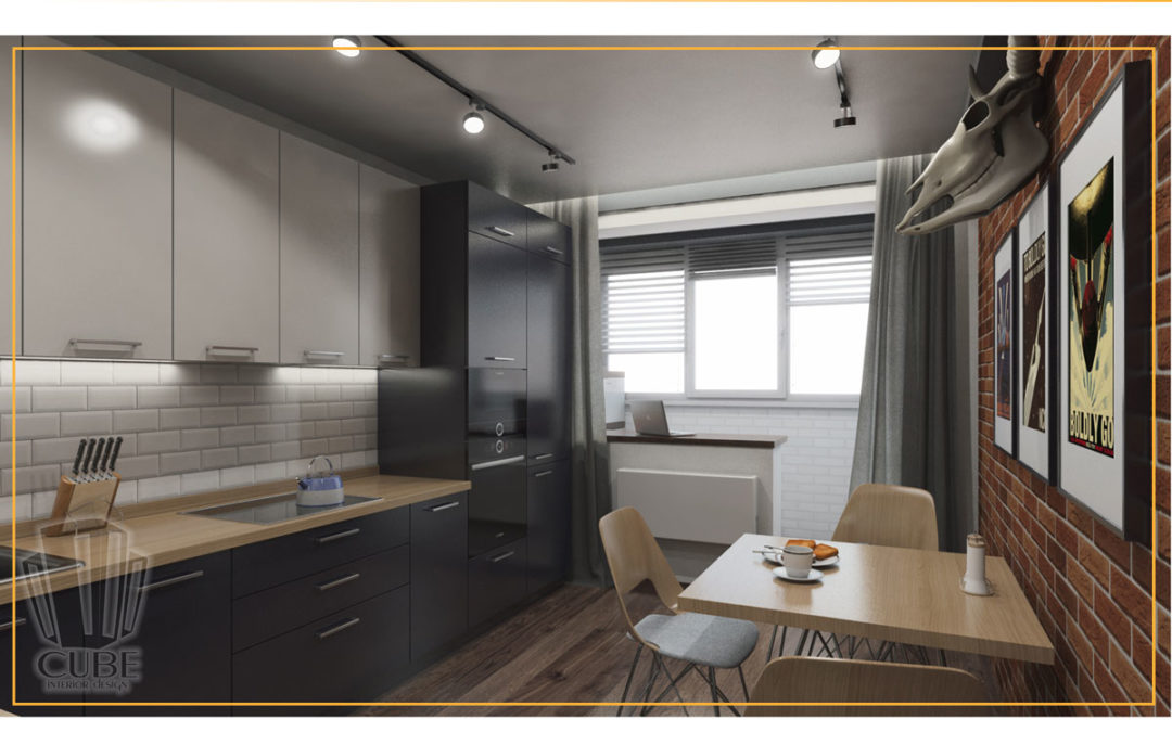 Дизайн-проект однокомнатной квартиры в ЖК «Вересковый пруд» г. Тюмень.